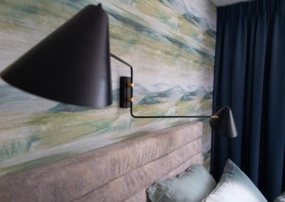 Slaapkamer detail lamp
